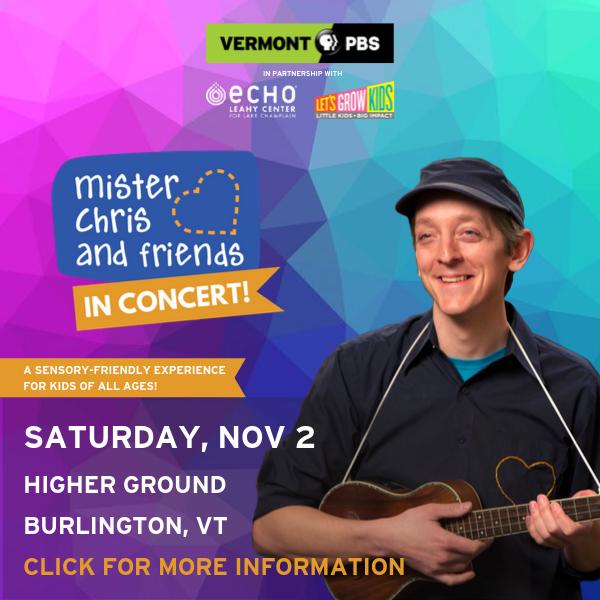Mister Chris in Concert - Burlington - Nov 2 - Click for details