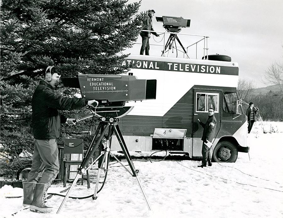 historic photo of VTETV van