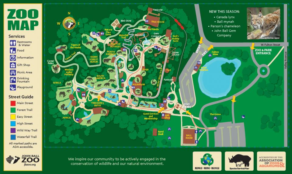 John Ball Zoo Map