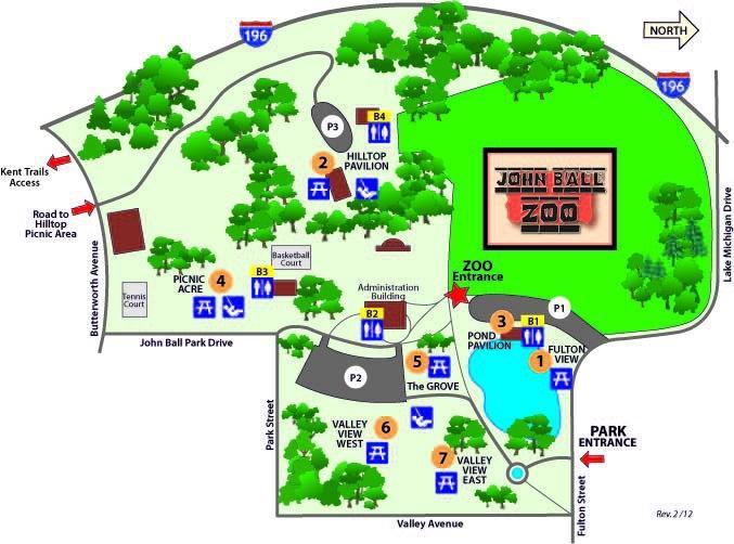 John Ball Park Map