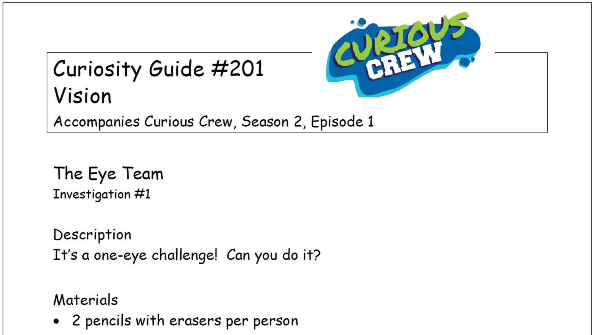 Curiosity Guide 201