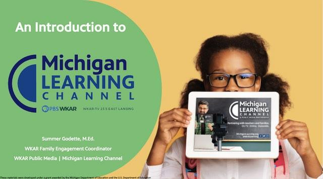An introduction to Michigan Learning Channel - Student with Tablet