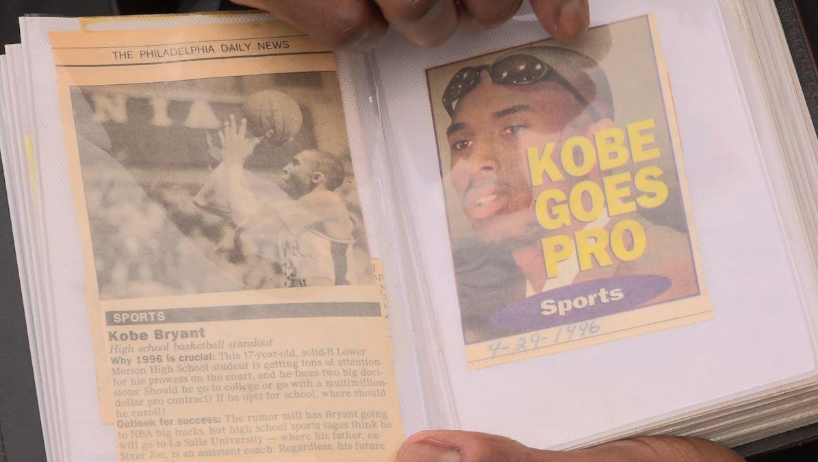 Leroi Leviston of Paoli showed PBS39 his Kobe Bryant scrapbook. It includes two autographs from the LA Lakers legend.