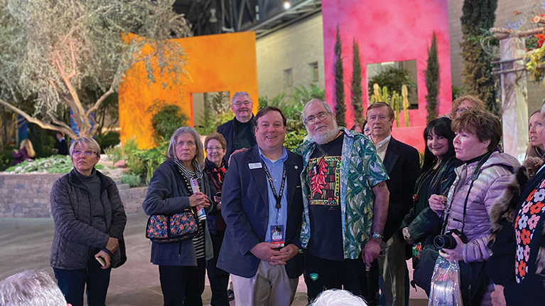 YBYG Host Mike McGrath with fans at the Philadelphia Flower Show
