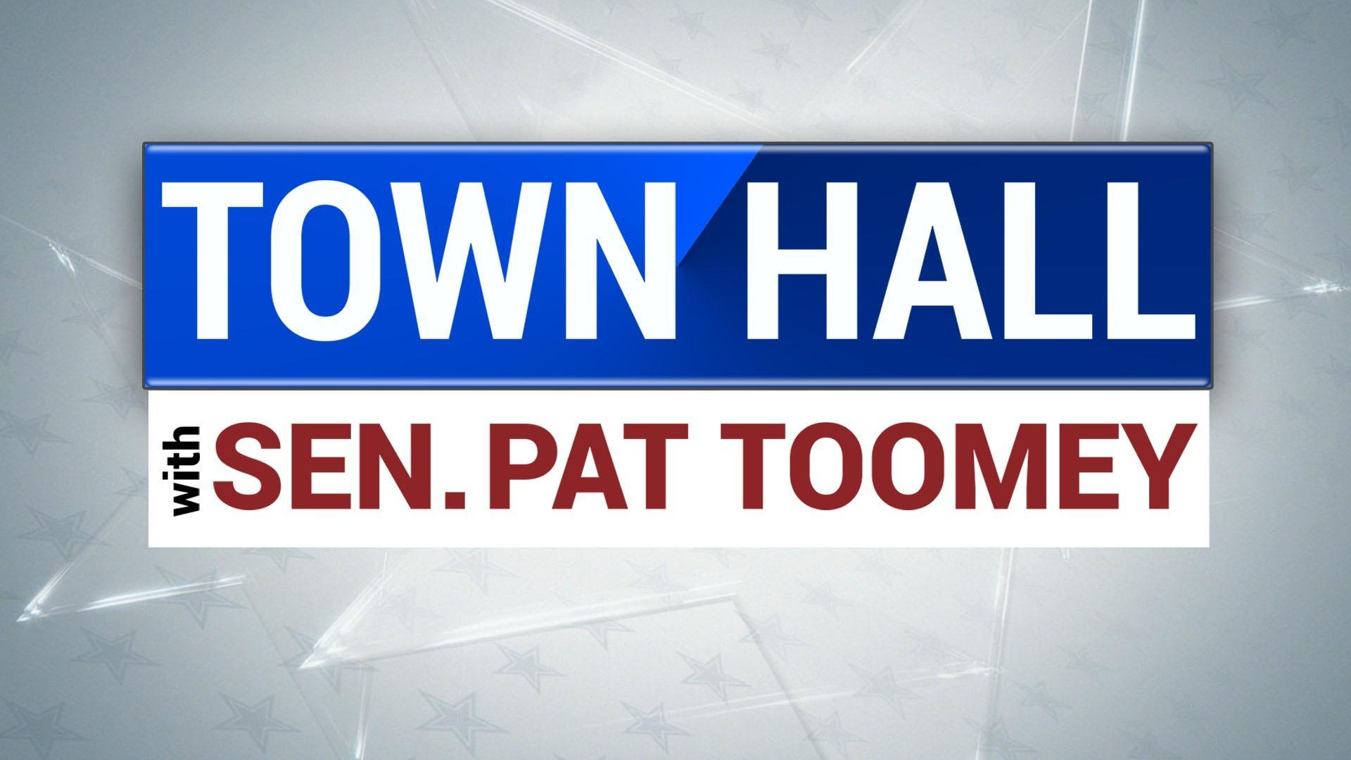 PBS39 to Host Town Hall Meeting with  U.S. Senator Pat Toomey