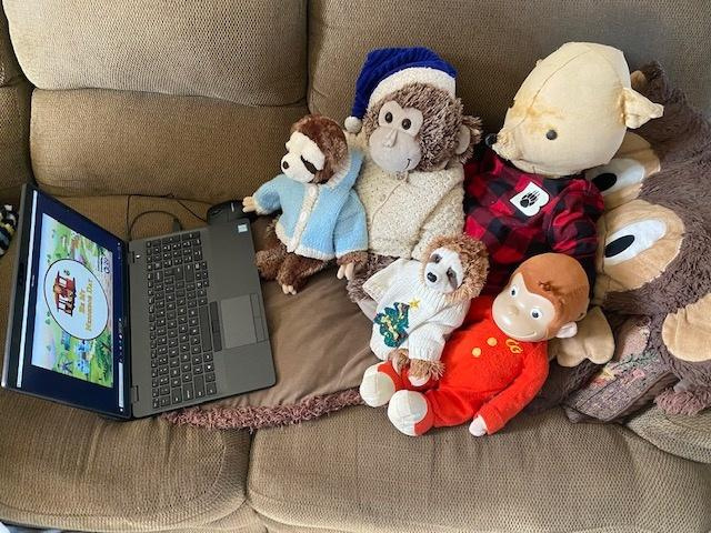 """Stuffed animals virtually """"attend"""" Be My Neighbor Day on Saturday, March 13, 2021."""