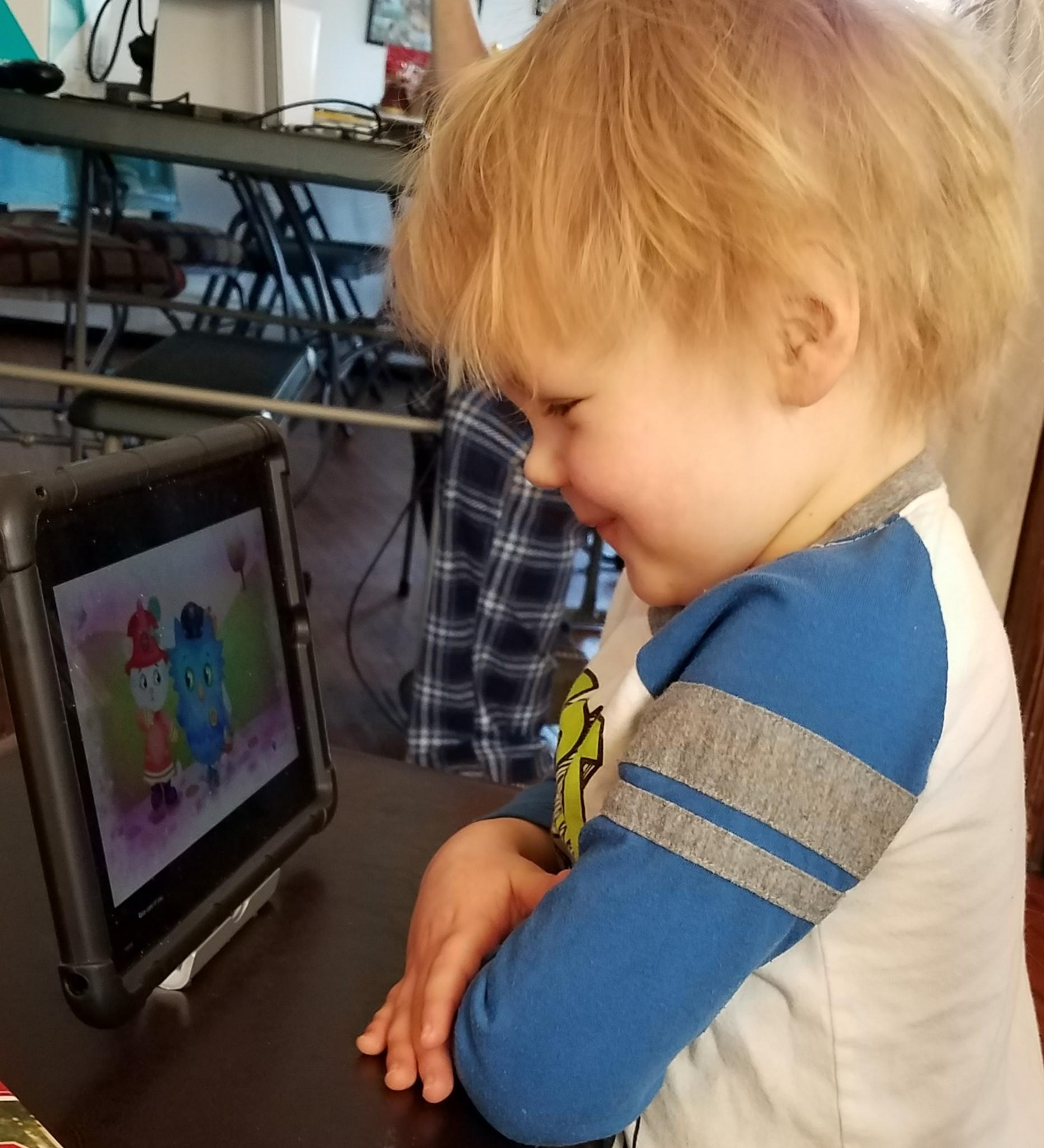Children virtually attend Be My Neighbor Day on Saturday, March 13, 2021.