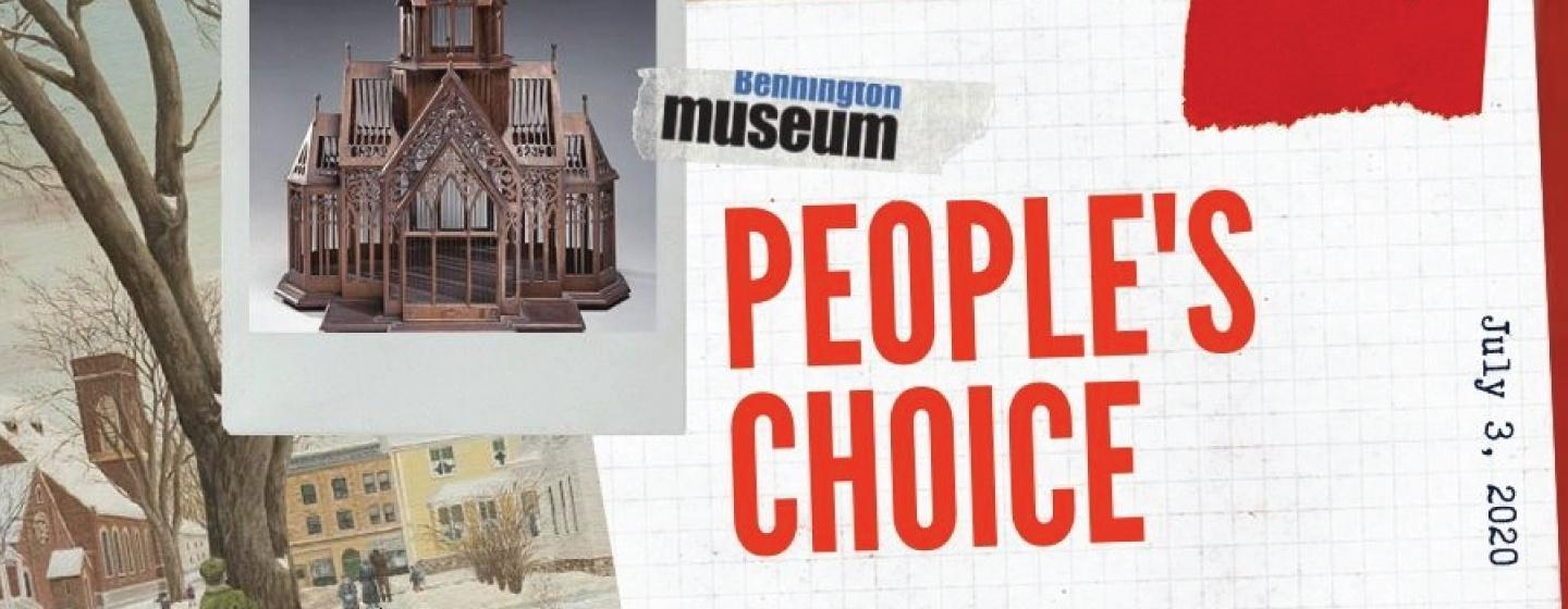 People's Choice call-to-action graphic from the Bennington Museum