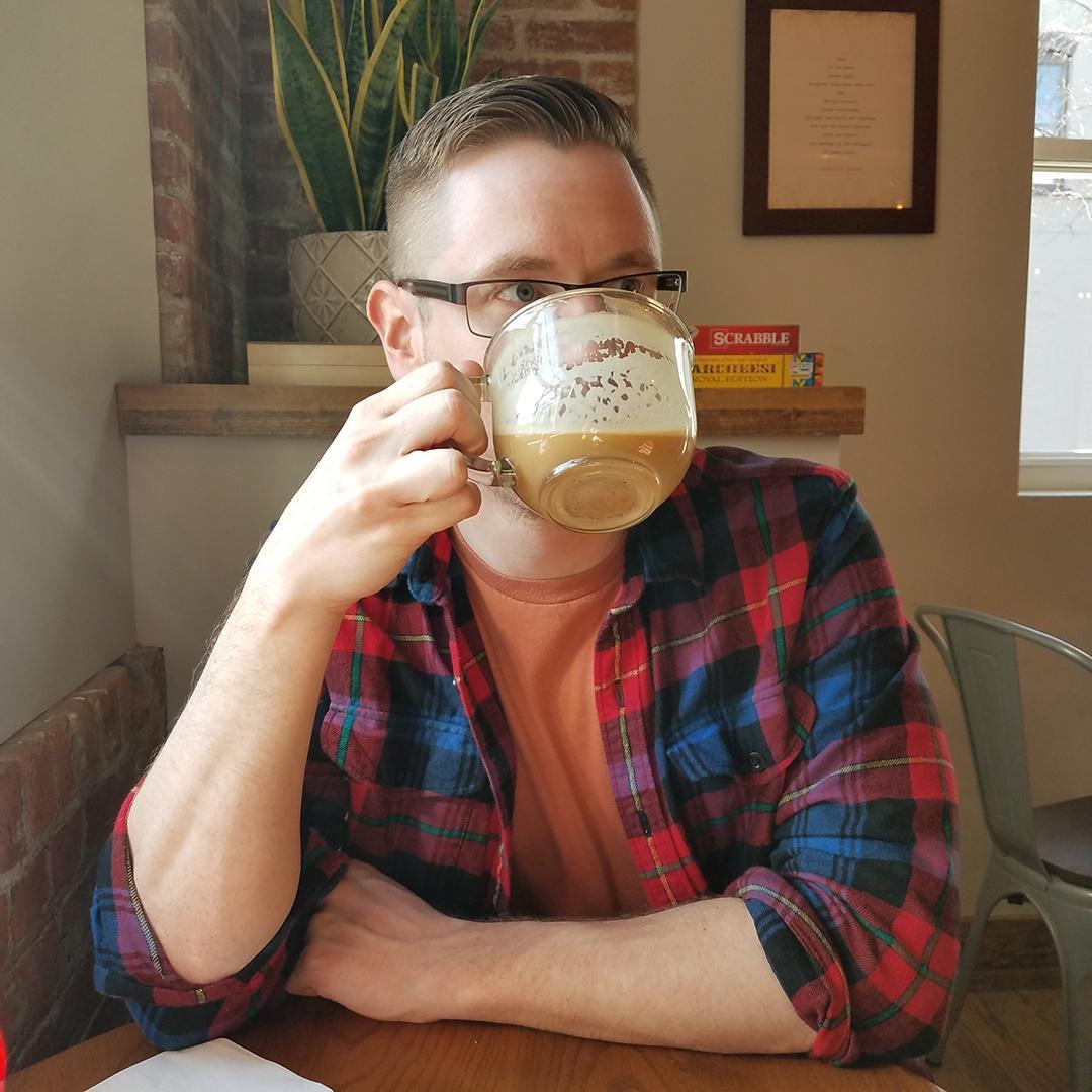 WMHT Producer Matthew Rogowicz Sips Coffee