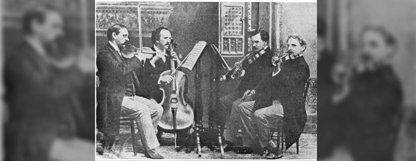A photograph of the Kneisel String Quartet, led by Franz Kneisel