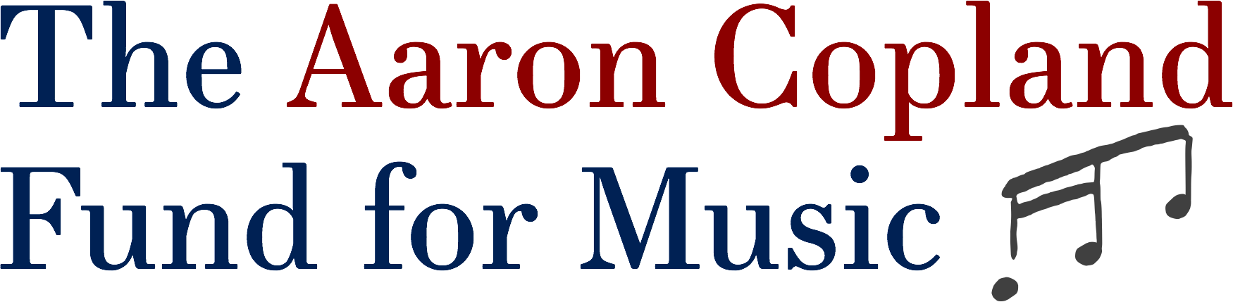 The logo for The Aaron Copland Fund for Music