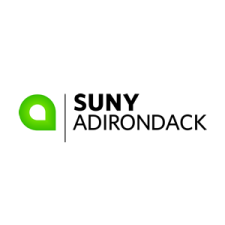 """The SUNY Adirondack logo contained within a white circle. The logo has a green stylized letter """"a"""" with black, sans serif type."""