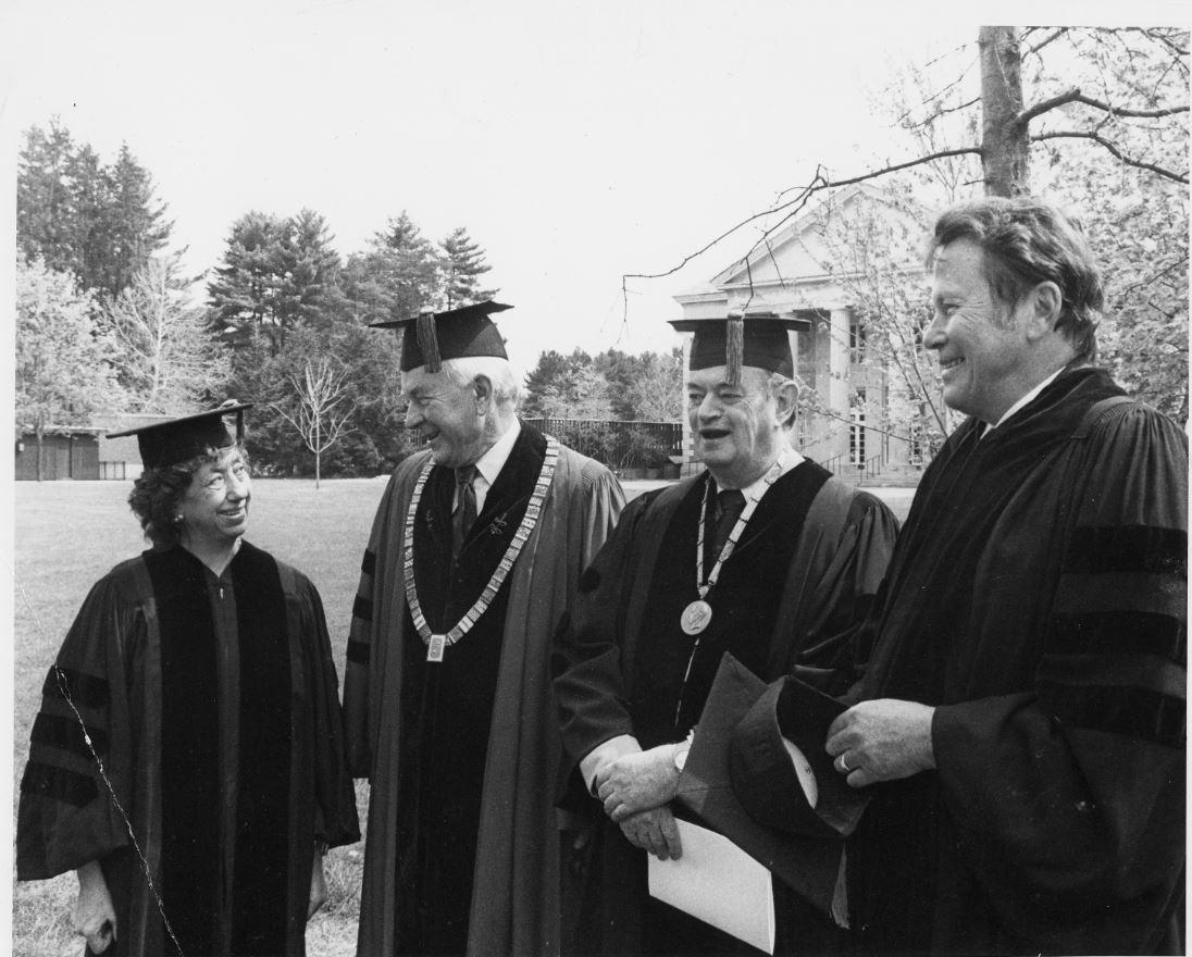 Lena receives an honorary degree from Skidmore College in Saratoga Springs.