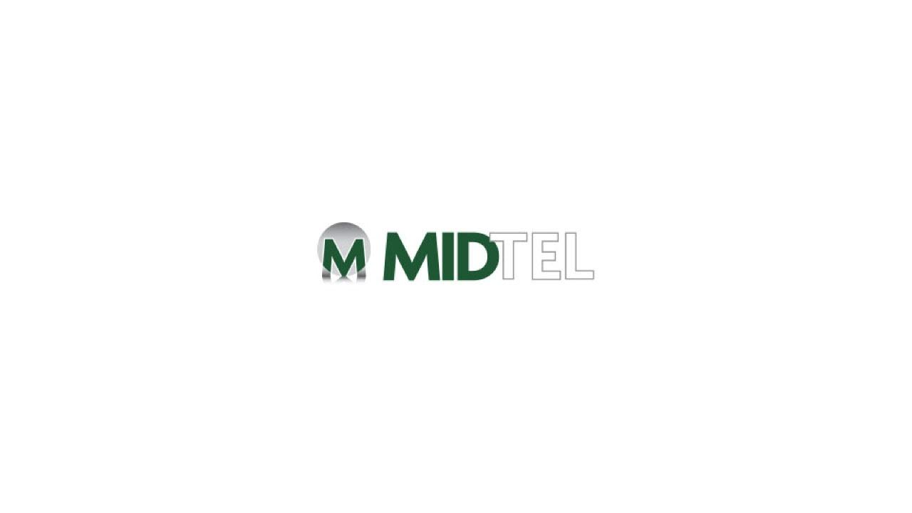 The MIDTEL logo features green and white type in all caps.