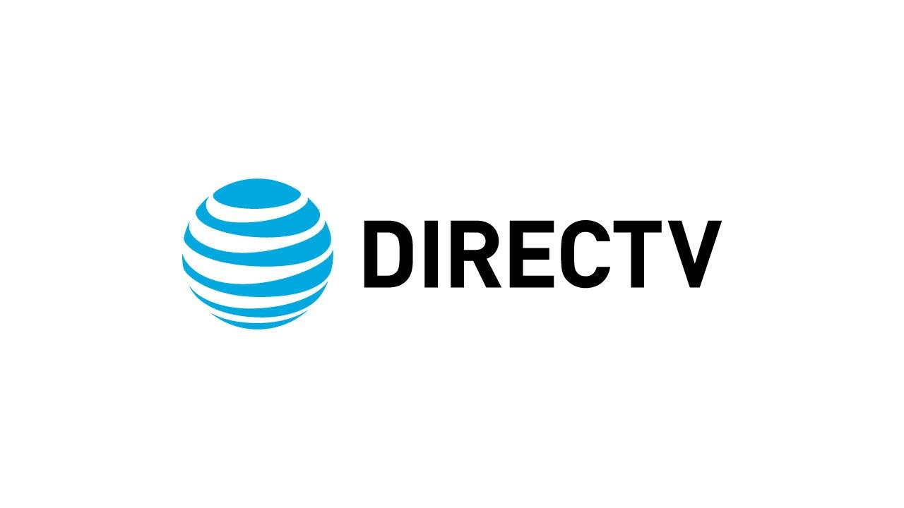 The DIRECTV logo features black sans serif font ant the AT&T globe logo element.