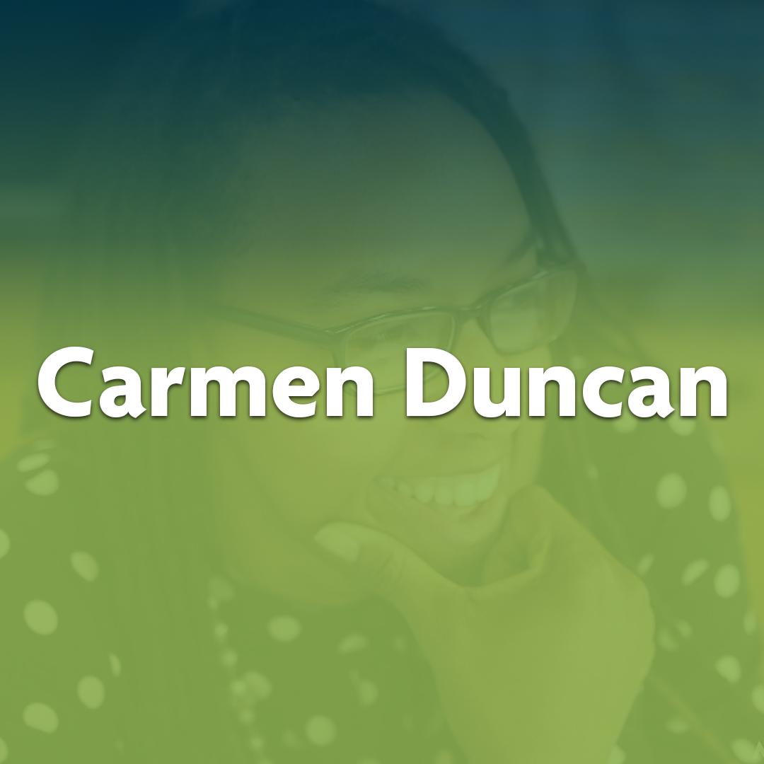 Extraordinary Neighbor Carmen Duncan is seen posing for a photo.