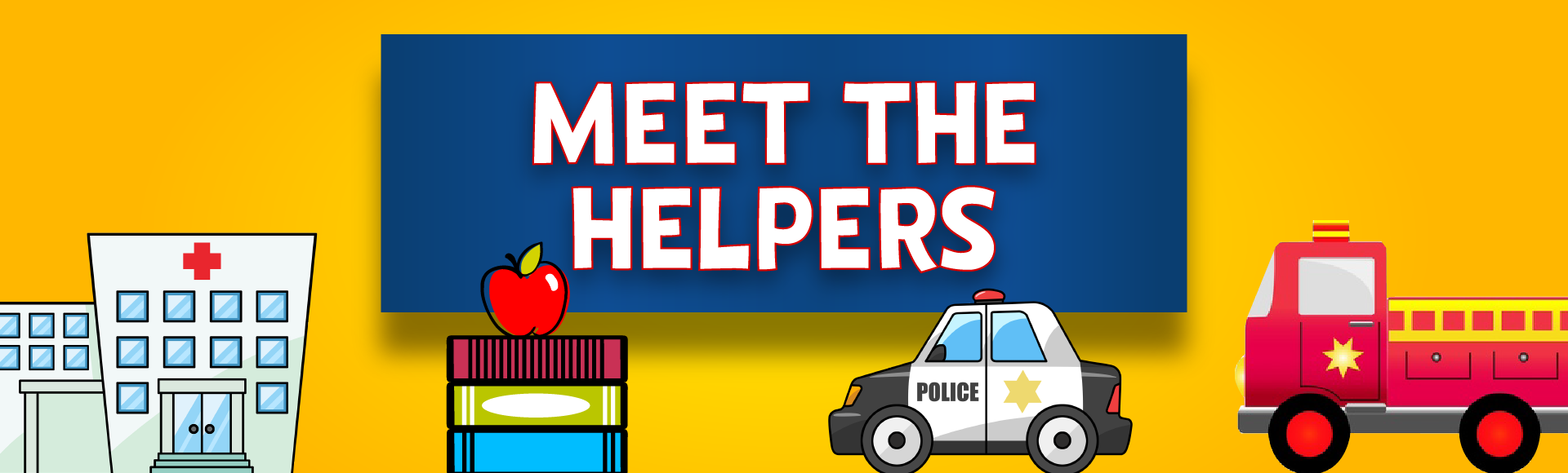 Meet The Helpers Image with Hospital and Emergency Video Illustrations