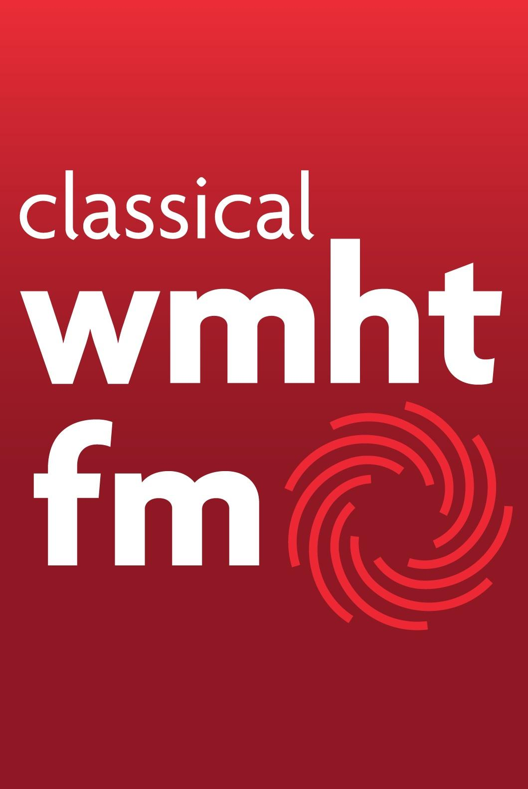 Classical WMHT-FM logo in red and white