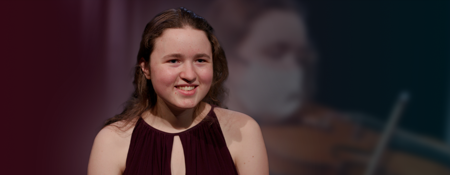 Samantha Baker speaks during an interview for Classical Student Musician.