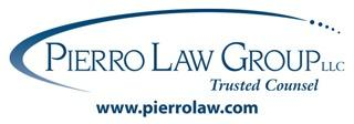 Pierro Law Group Logo in a dark blue, serif font, all caps