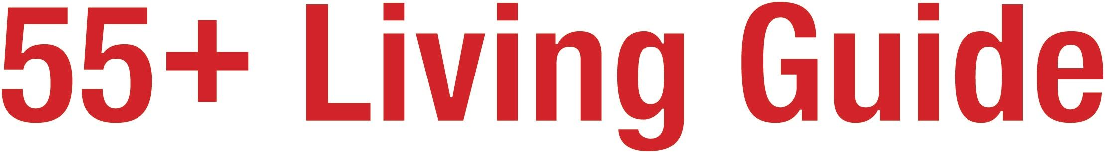55+ Living Guide Logo in a red, sans serif font