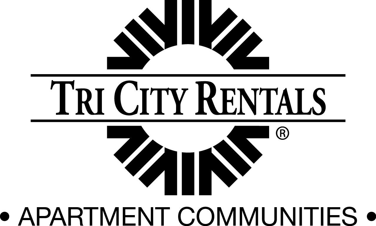 Tri City Rentals Logo in black with a circular emblem and the words Apartment Communities below