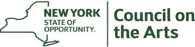 New York State of Opportunity | Council on the Arts Logo in green sans serif font
