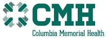 Columbia Memorial Health Logo in green with the letters CMH and a green emblem to the left