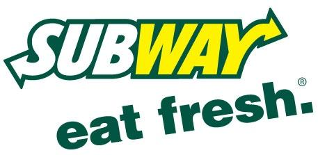 Subway Eat Fresh Logo in white, yellow, and green