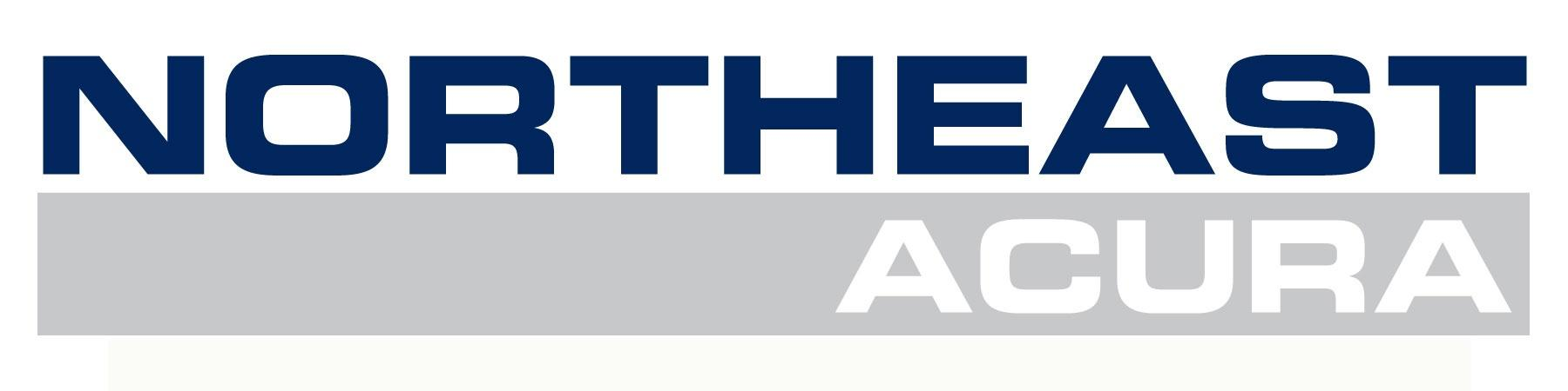 Northeast Acura Logo in dark blue and gray sans serif font, all caps