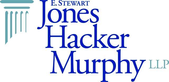 E. Stewart Jones Hacker Murphy LLP Logo with the names stacked in dark blue