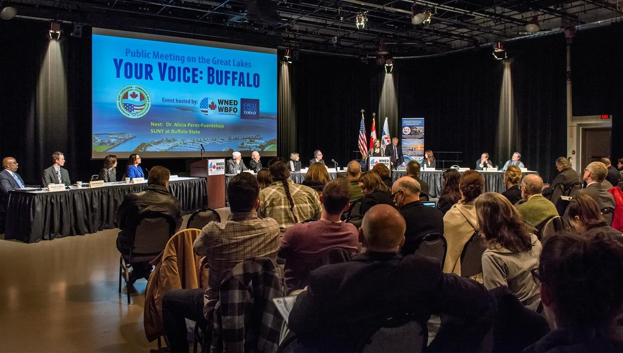 WBFO's Great Lake Today hosted the IJC for two days of public meetings in WNED Studio One.