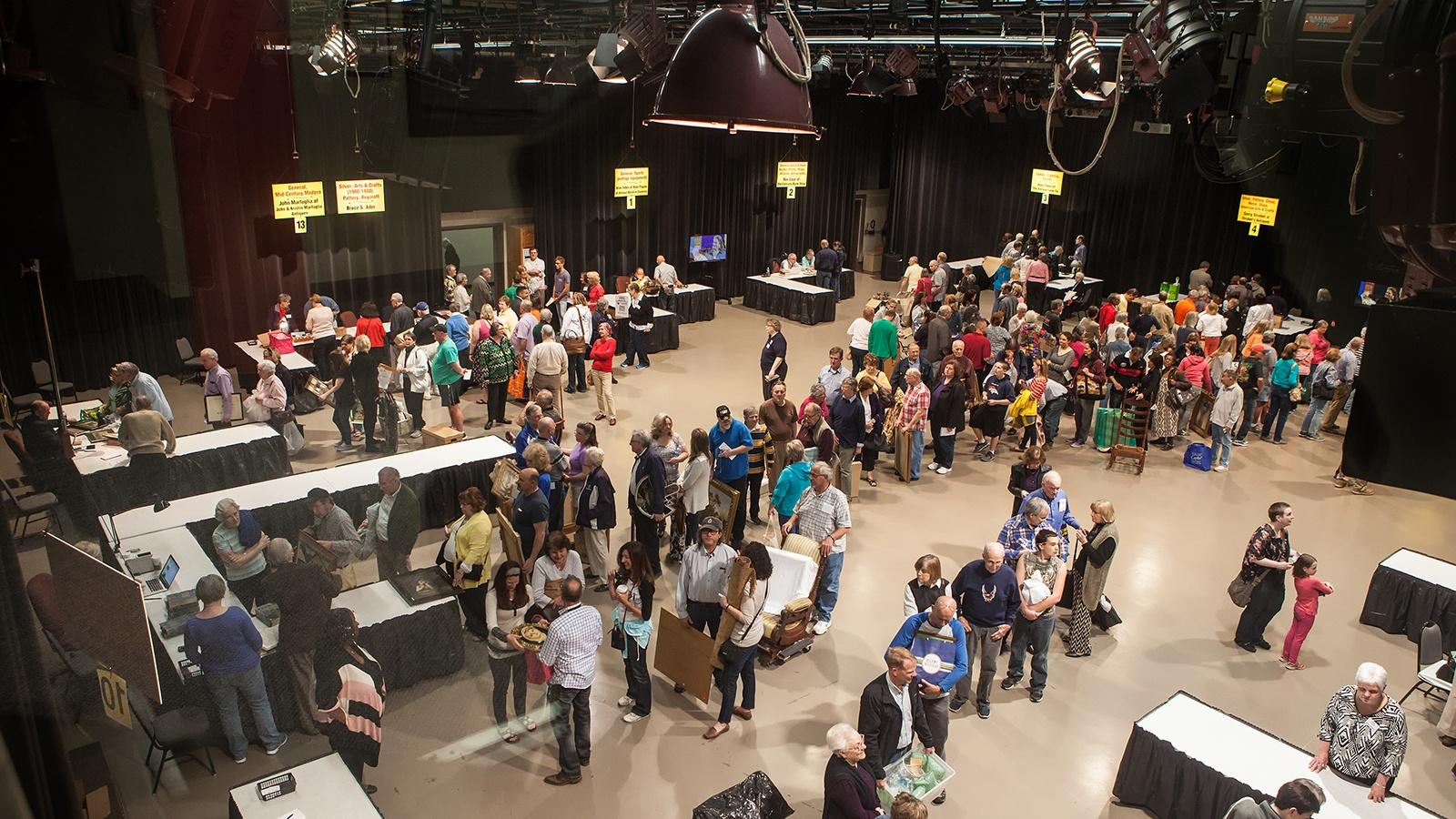 crowd in Studio One at Antique Homeshow, one of Buffalo Toronto Public Medias signature events