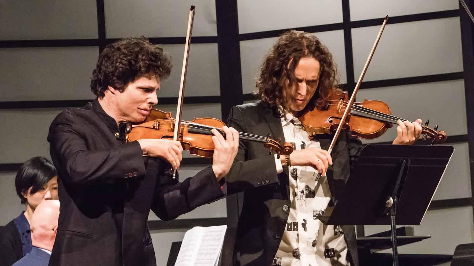 Augustin Hadelich and Tin Fain perform.