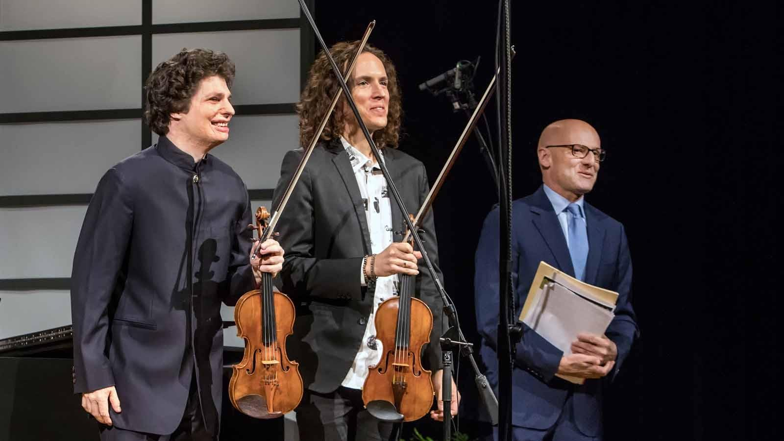 Augustin Hadelich, Tim Fain and Robert Koening.