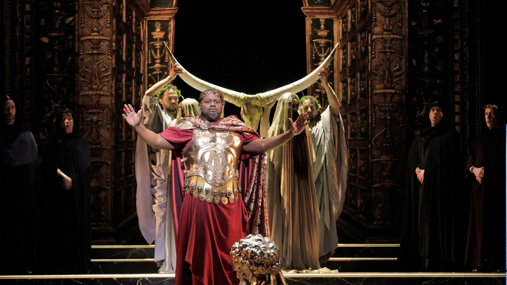 LA Opera's production of The Clemency of Titus. Credit: Cory Weaver