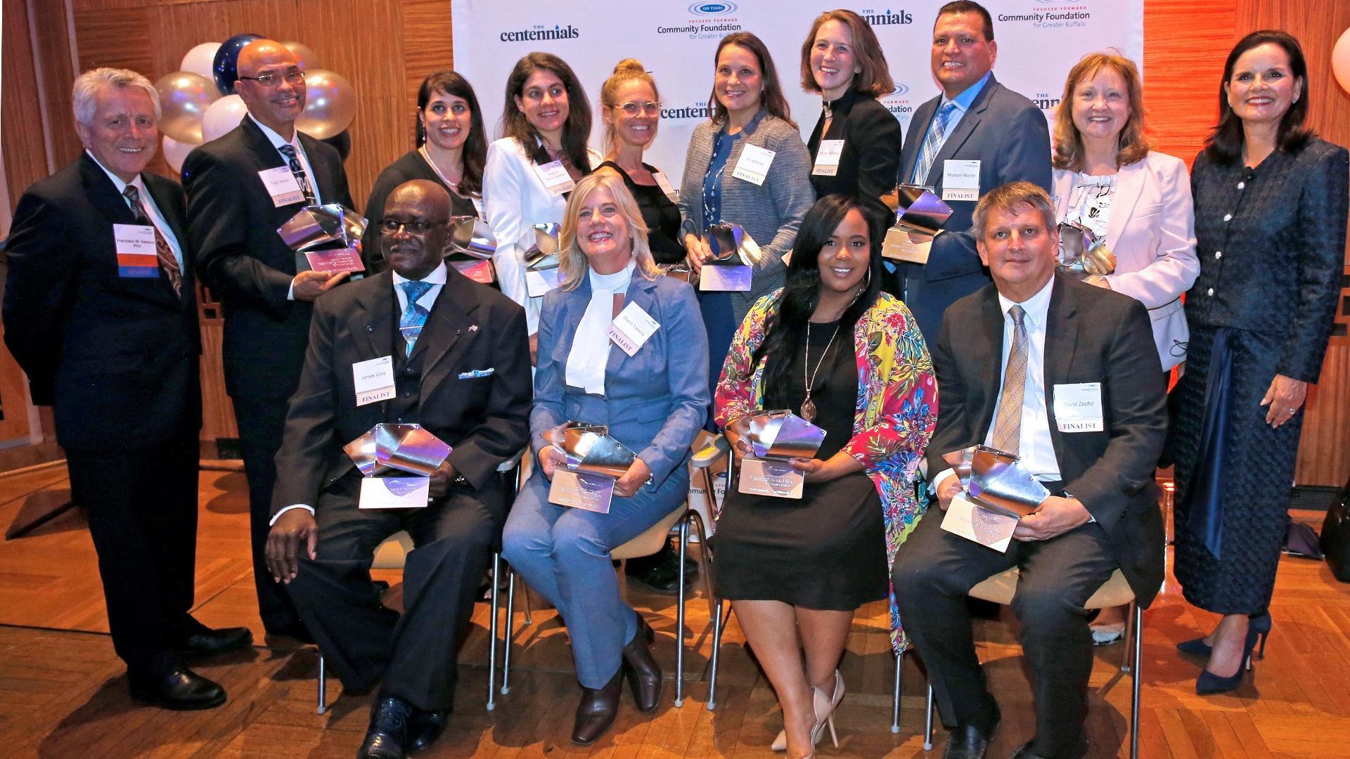Centennials Finalists pose for a group photo