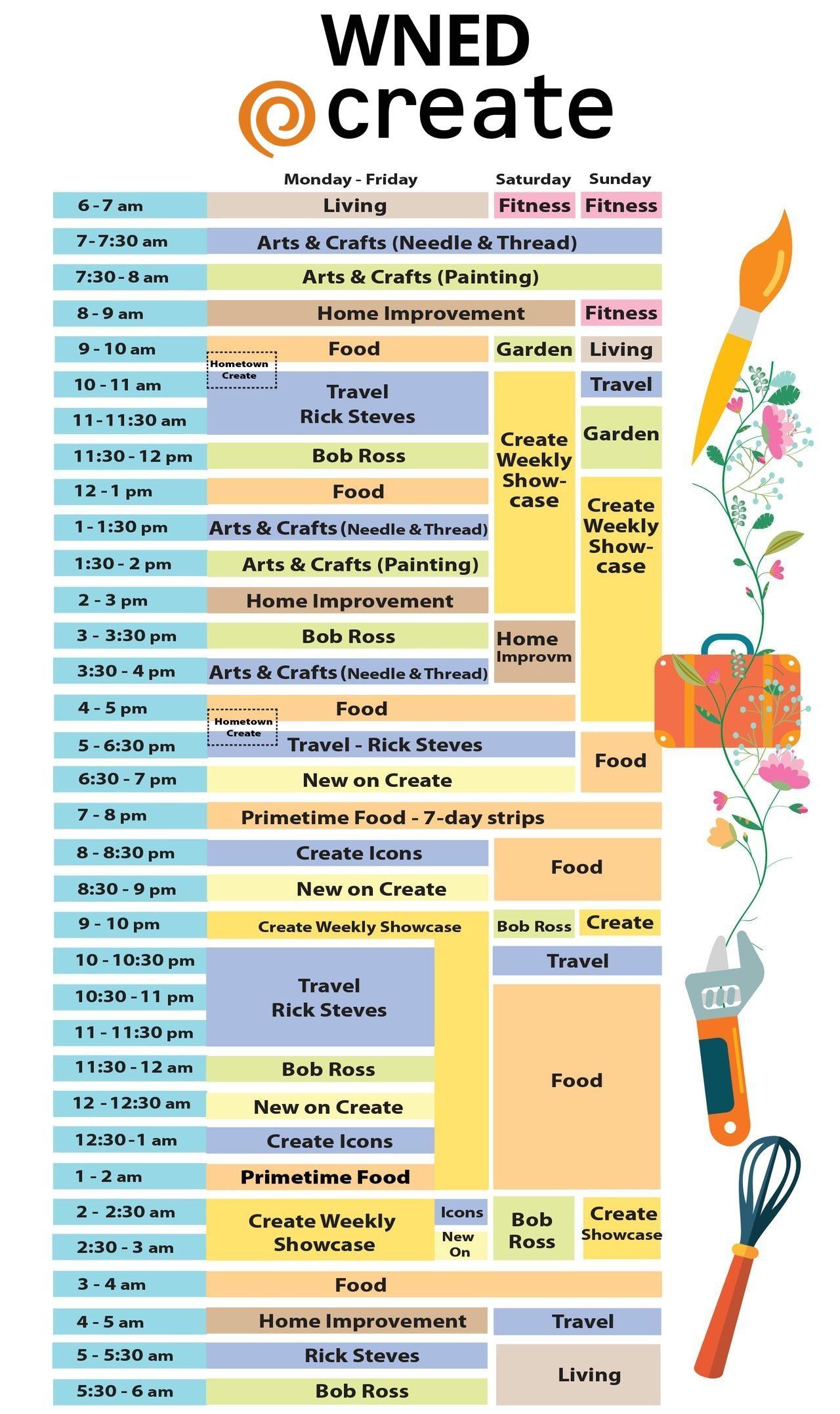 WNED Create Program Schedule