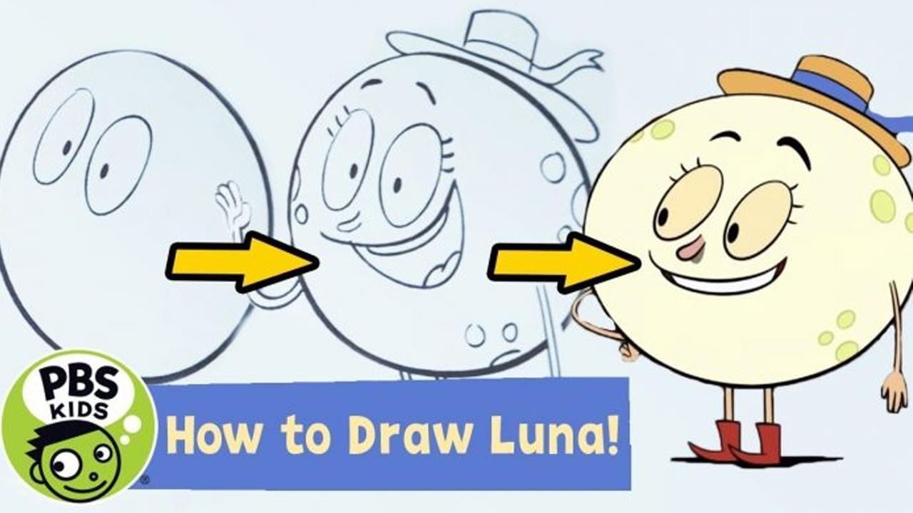 How to draw Luna