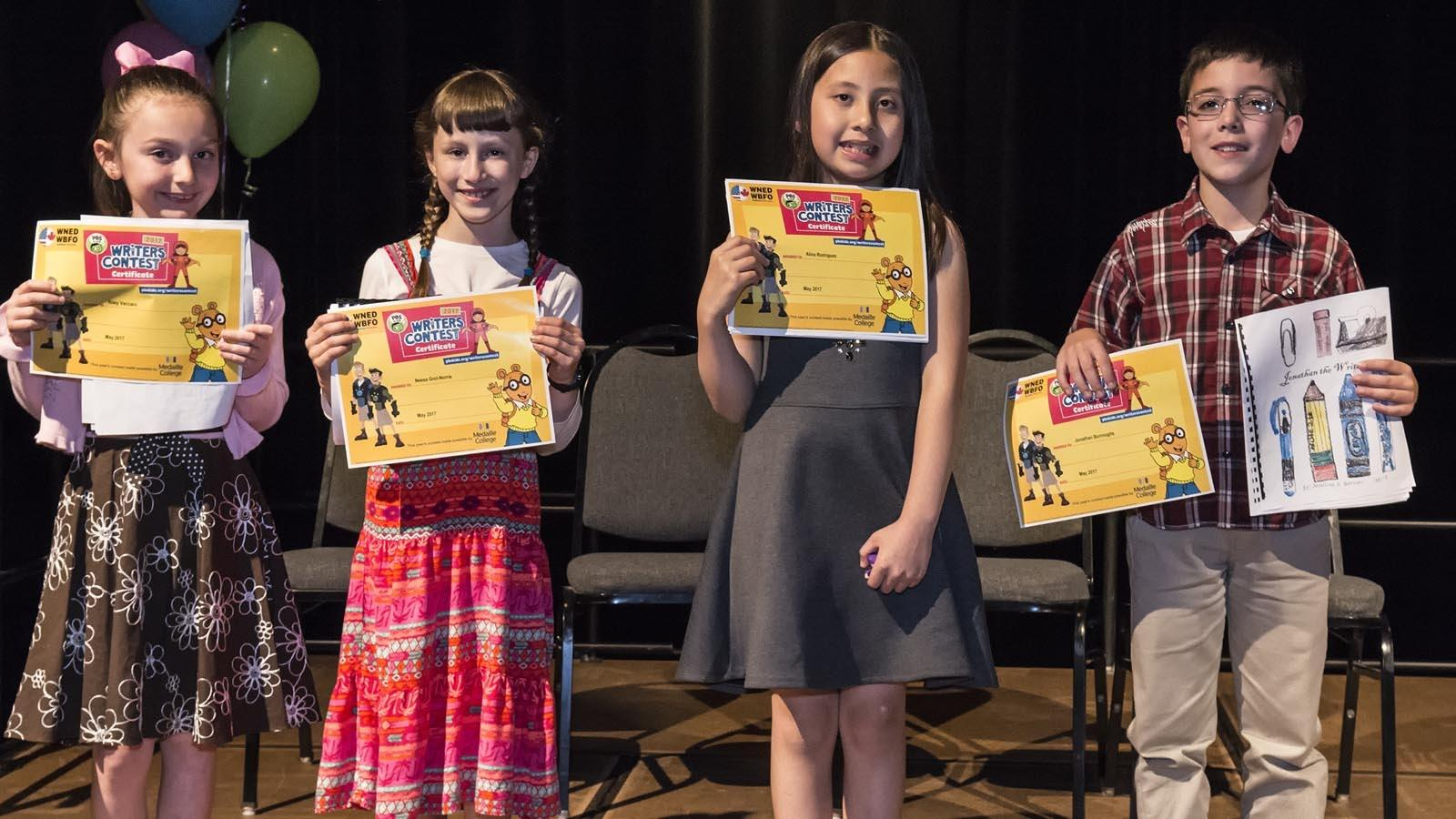 Third Grade Winning Authors