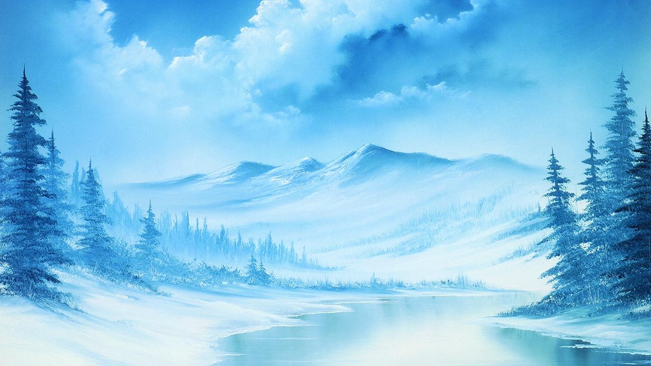 Blue Winter - Bob Ross