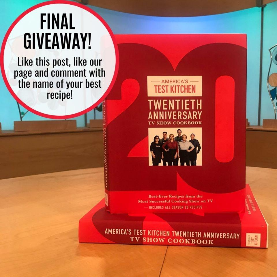 America's Test Kitchen Twentieth Anniversay Cookbook