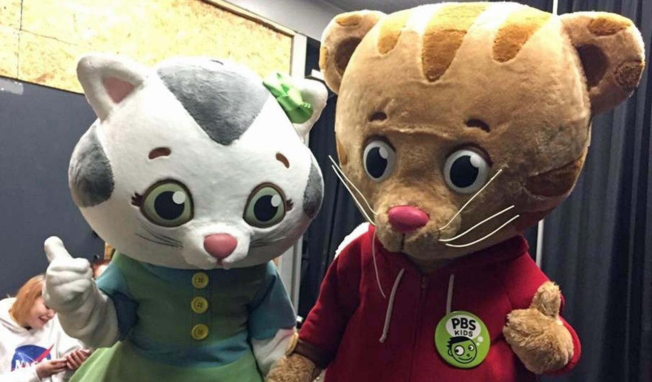 Katerina Kittycat and Daniel Tiger at WNED's Kid Fest