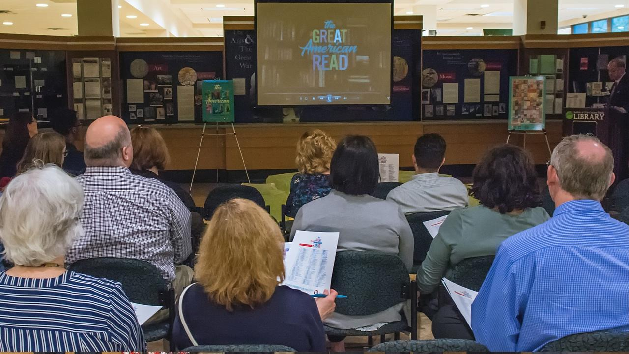 The Great American Read launch event at the Buffalo Central Library May 22, 2018.