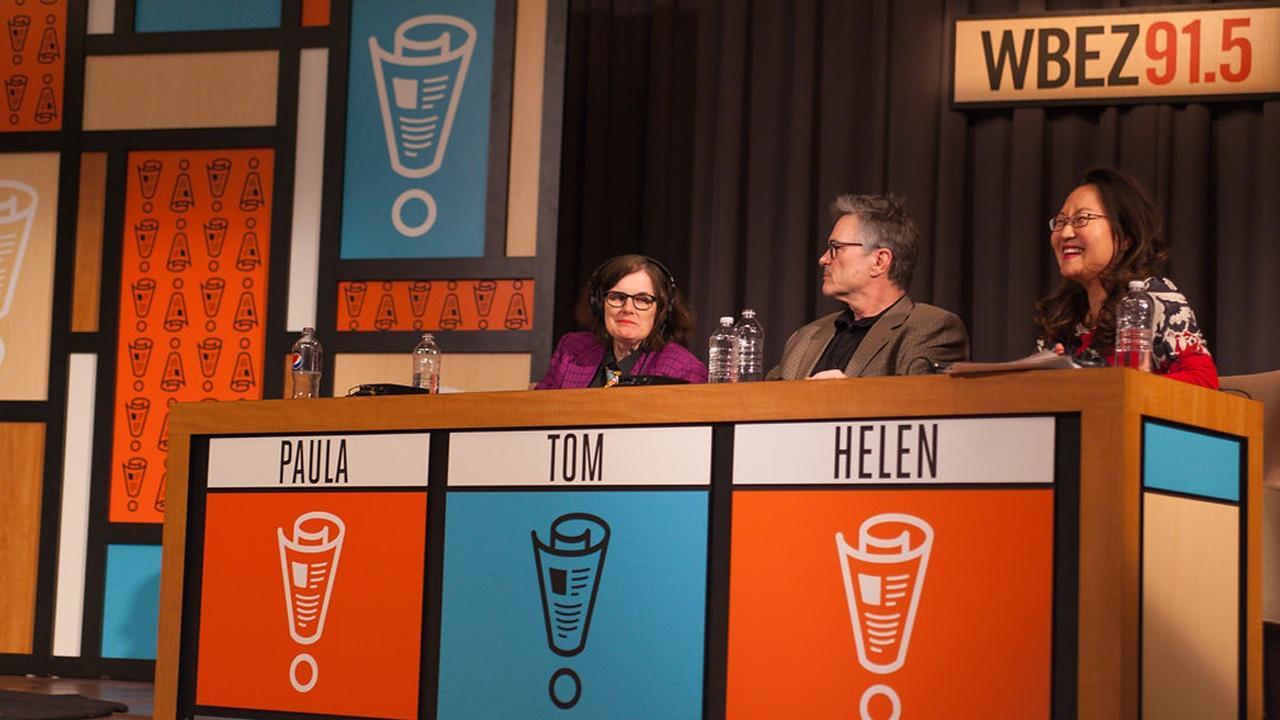 Wait, Wait. . . Don't Tell Me panelist Paula Poundstone, Tom Bodett and Helen Hong