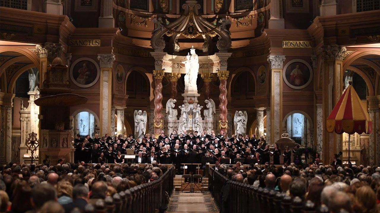 The Buffalo Philharmonic Orchestra and Chorus performse Mandel's Messiah at Our Lady of Victory Basilica