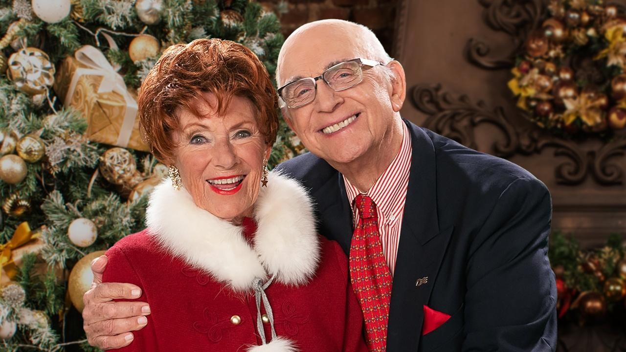 Marion Ross and Gavin MacLeod, hosts of Classic Christmas