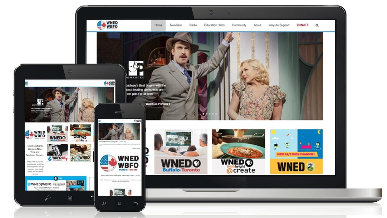 Responsive design of wned.org