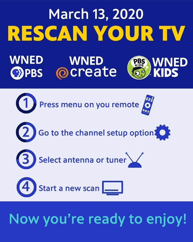 Rescan your TV March 13, 2020