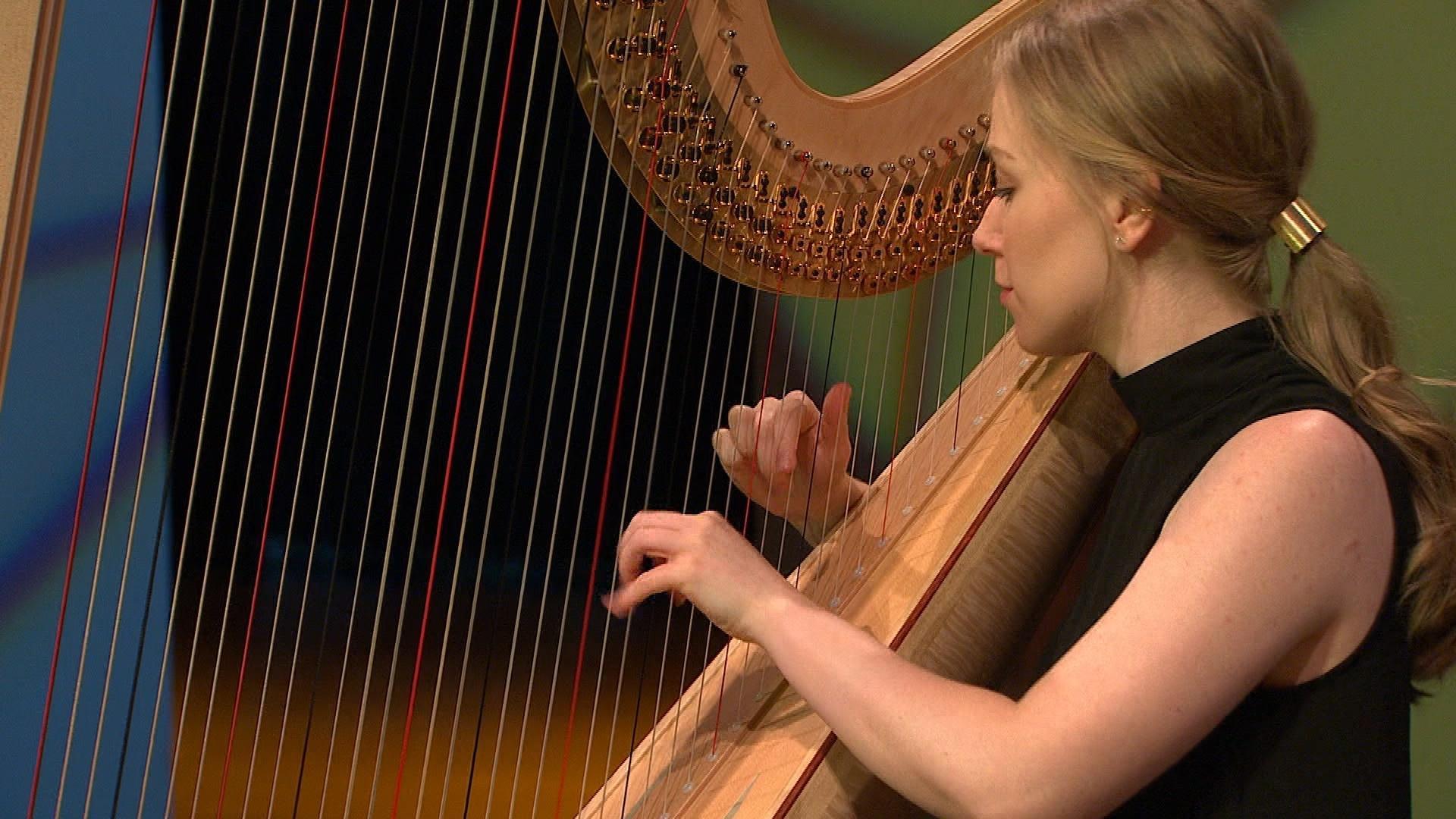 BPO musician Madeline Olson, Harp